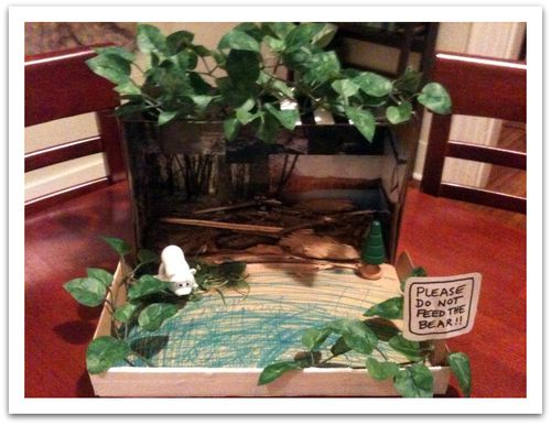 how to make a forest in a shoebox