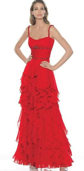Vestidos color rojo vivo
