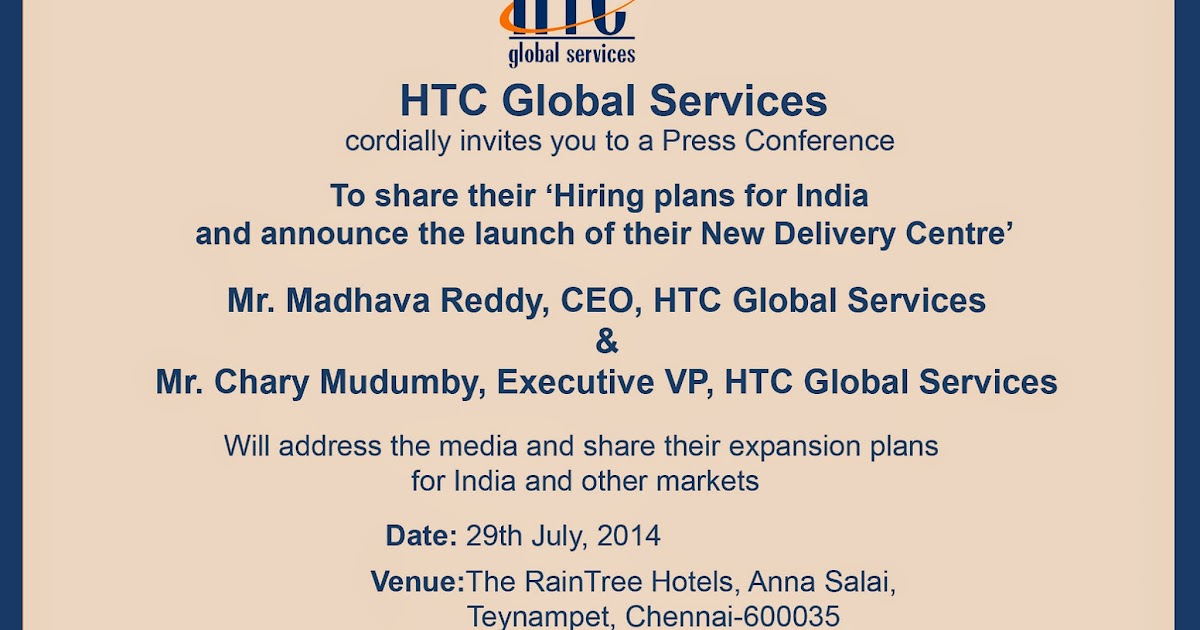 Agenda: HTC Global Services