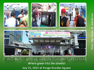 Live Green Toronto Festival 2012, Wo-Built Shares Its Latest Innovation for Peapod Life, photos by Olga Goubar
