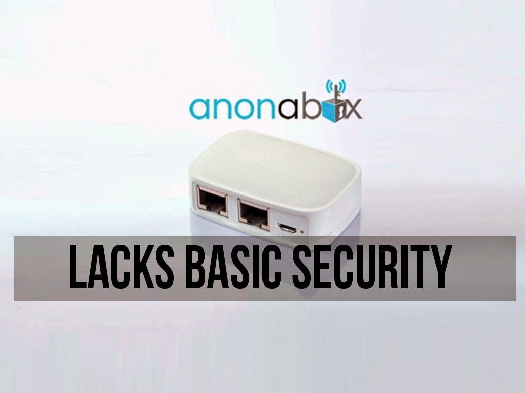 Tor Onion Router Anonabox Lacks Basic Security