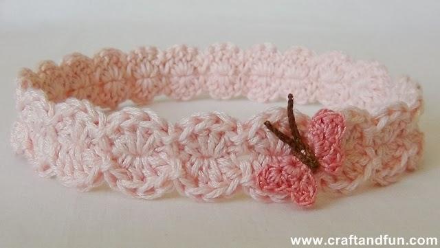 Crochet Neonati: Fascia per Capelli all'Uncinetto per Bimba