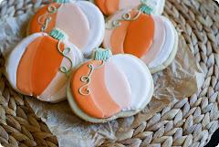 ombre pumpkin cookies...