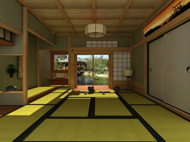 chambre de thé japonaise