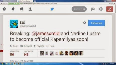 James Reid and Nadine Lustre (Jadine) now Kapamilyas!