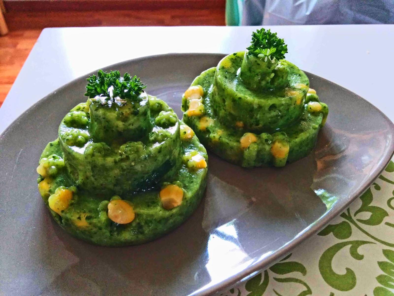 Châteaux de légumes verts