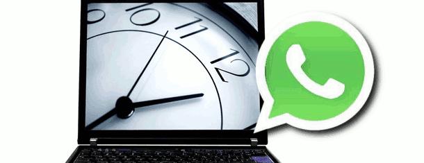 WhatsApp computer clock ilustration