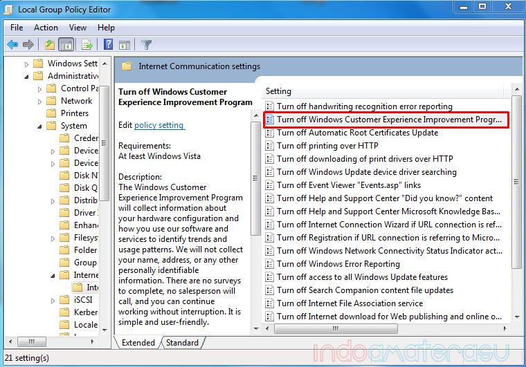 Mengatasi Windows Explores Has Stoped Working melalui gpedit.msc 3