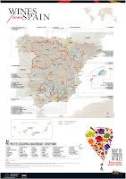 Mapa de les regions vinícoles espanyoles