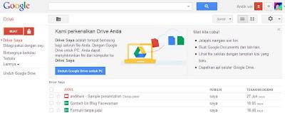 Tampilan awal Menu Google Docs