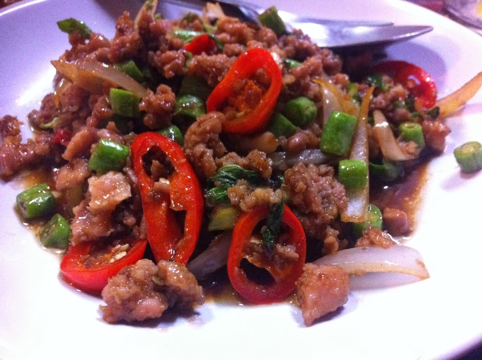 Ground pork, Bangkok, Thailand