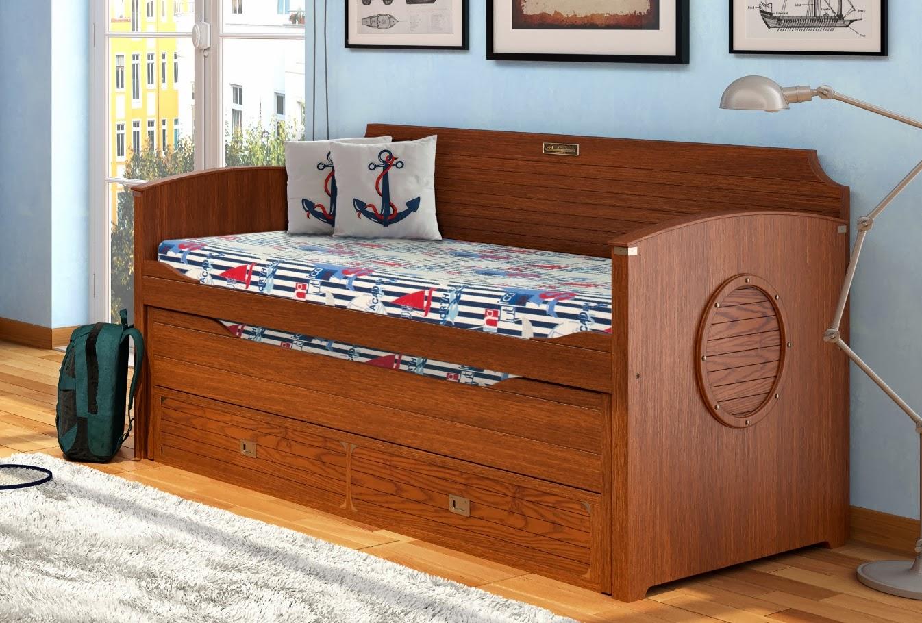 Blog de mbar muebles dormitorios estilo barco for Cama nido color madera