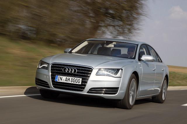 перед Audi A8 Hybrid 2012 года