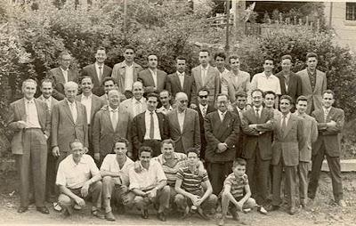 La Pobla de Lillet - 24 de Julio de 1959 – Patio del Casal Catòlic – Jugadores, organizadores y simpatizantes