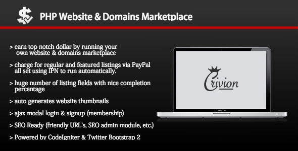 PHP Website and Domains Marketplace v1.4