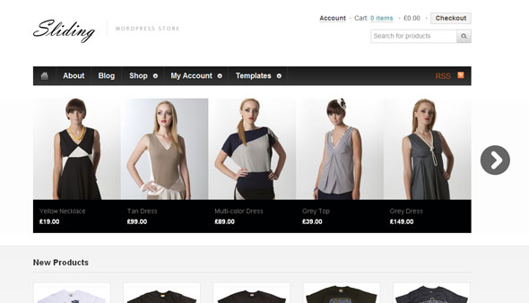 Sliding - ecommerce Wordpress Theme Free Download by WooThemes.