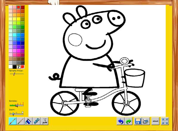 Colorea a Peppa Pig Online: Juego educativo para niños de 3 y 4 años ...