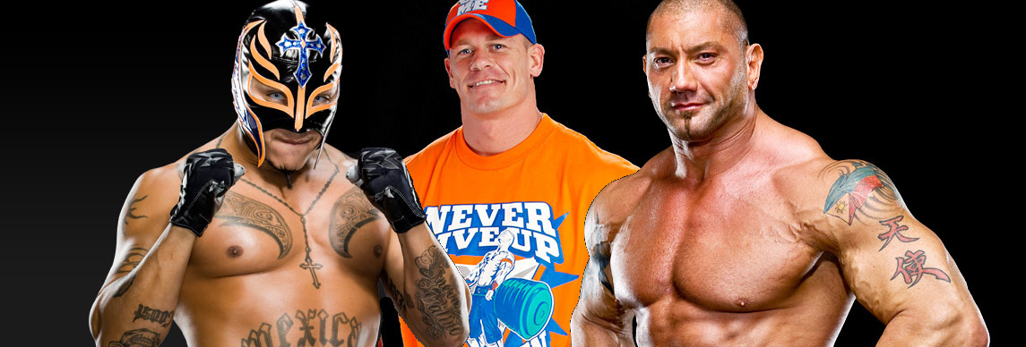 WWE CHAMPION 2011: john cena and rey mysterio