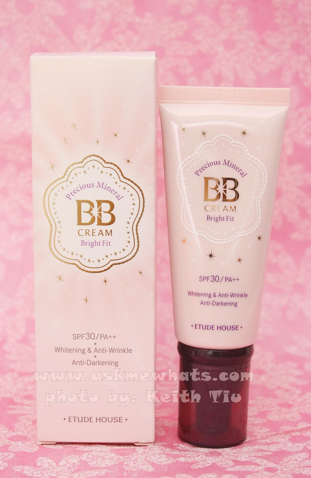 a photo and review of Etude House Precious Mineral BB Cream Bright Fit