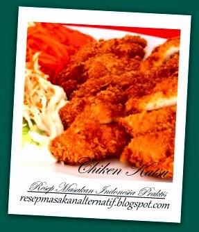 Resep dan Cara Membuat Ayam (Chicken) Katsu Saus Sambal