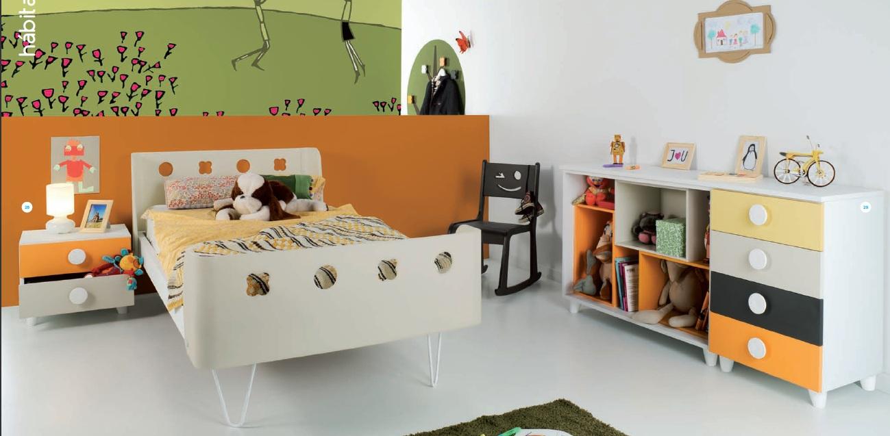 Cama infantil con tobogan azul - Dormitorios infantiles madrid ...
