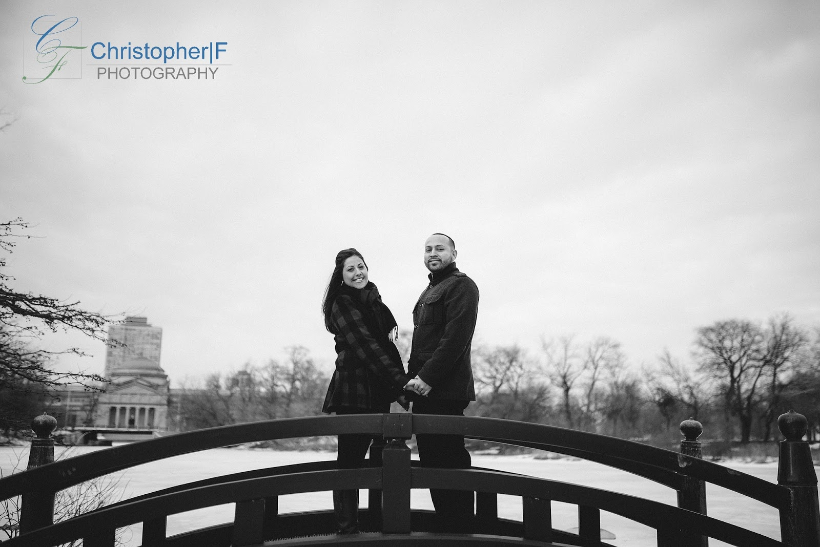 Osaka Garden Chicago Engagement Photo