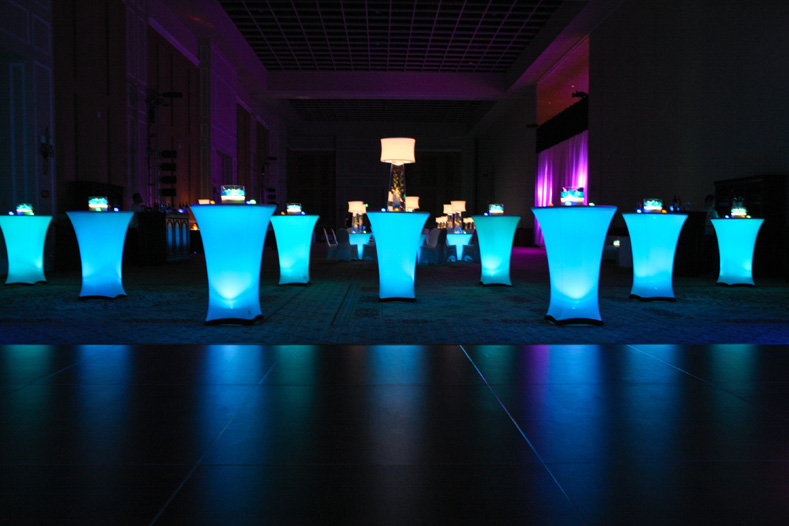 Get a quote today for lighted cocktail tables for your Dallas wedding today