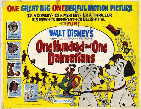 Original poster 101 Dalmations 1961 animatedfilmreviews.filminspector.com