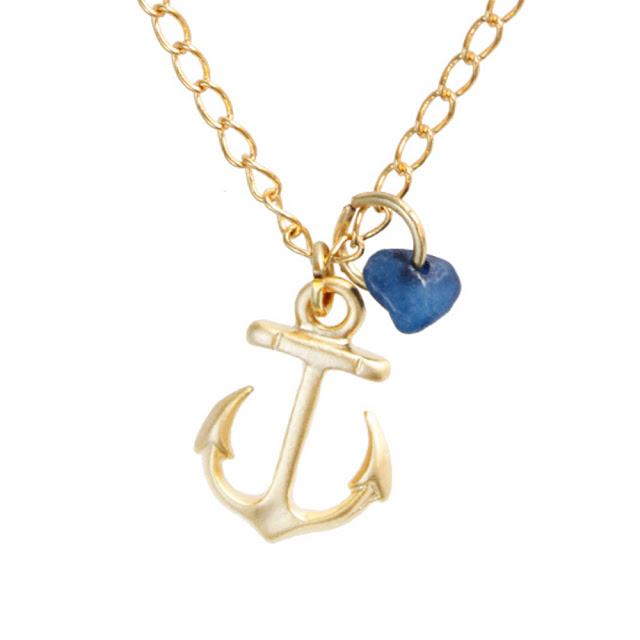 Gold Anchor Necklace7