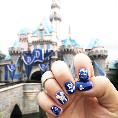 Disneyland 60th Anniversary Nails