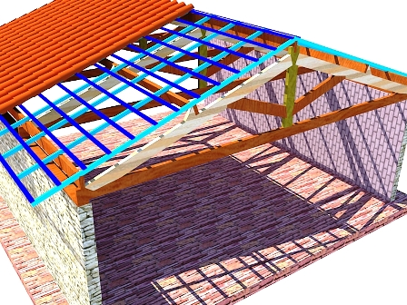 Calcular madeira para telhado