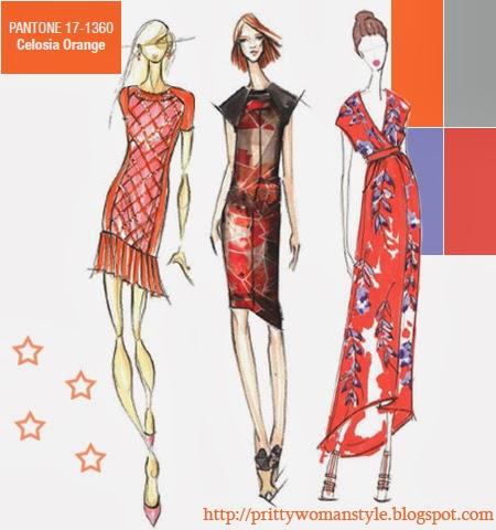 Оранжево целозия моден цвят за пролет лято 2014