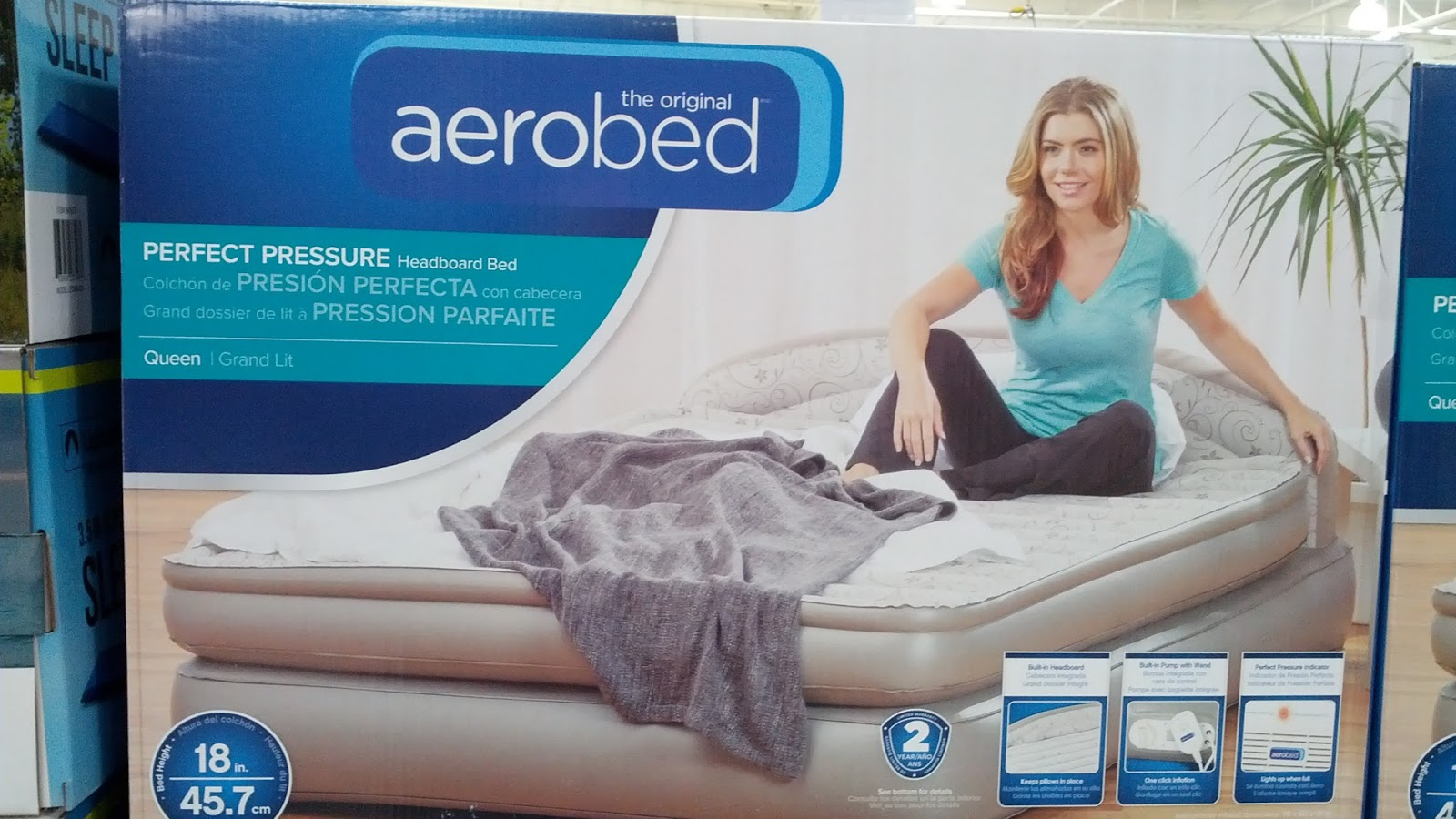 Aerobed 18 Queen Airbed With Headboard Costco Weekender