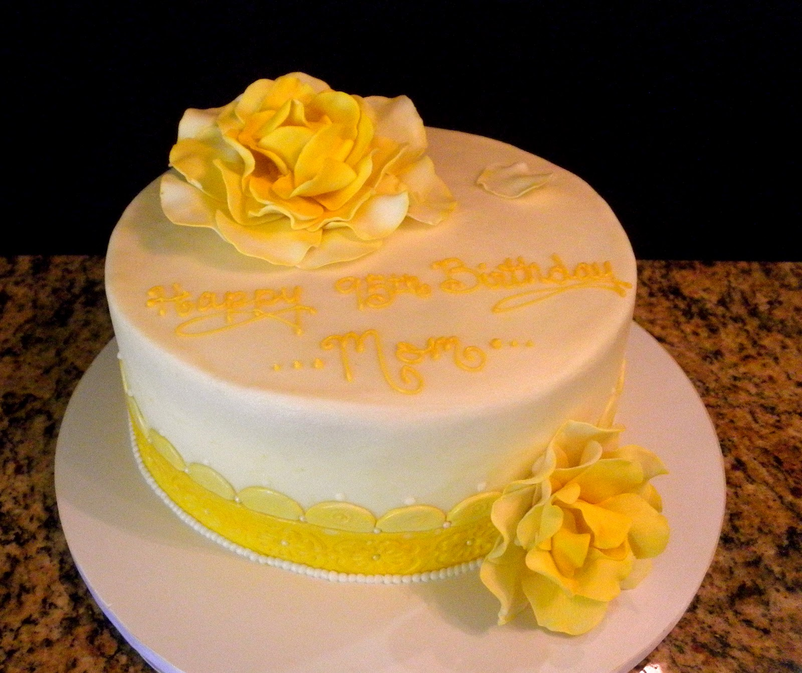 Sweet T s Cake Design: Yellow Rose Birthday Cake