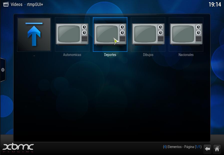 RTMPGUI+ : Todo el Fútbol en XBMC