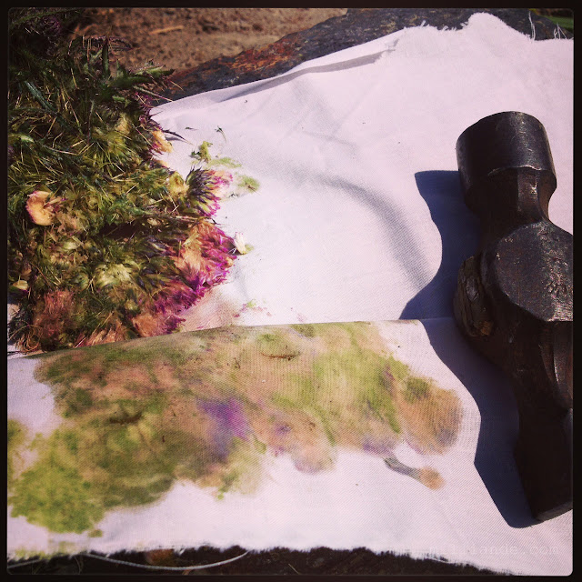 River Meadow Cloth - Eco Dye Fabric, Natural Dying with Flowers and Plants for UnRuly Cloth & Canvas