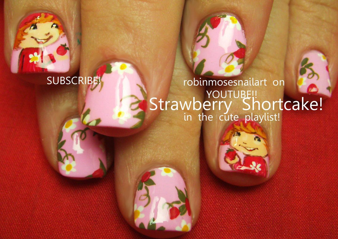 Strawberry Shortcake Nail Art 2
