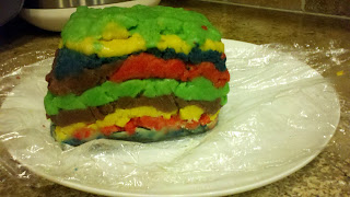 piñata cookie dough loaf