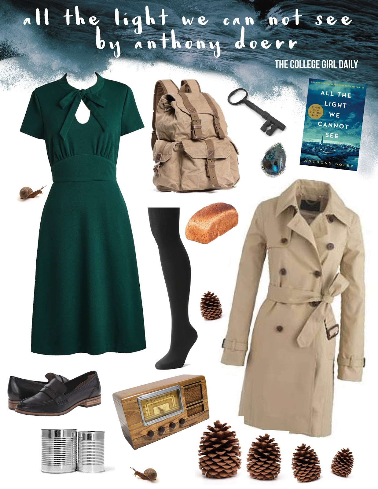 Book Inspired Outfits: All The Light We Cannot See By Anthony Doerr
