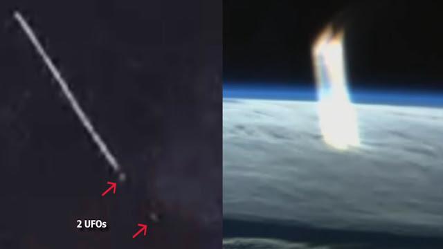 Énorme faisceau de lumière apparaît au-dessus de la Terre capturé pendant ISS Diffusion en direct