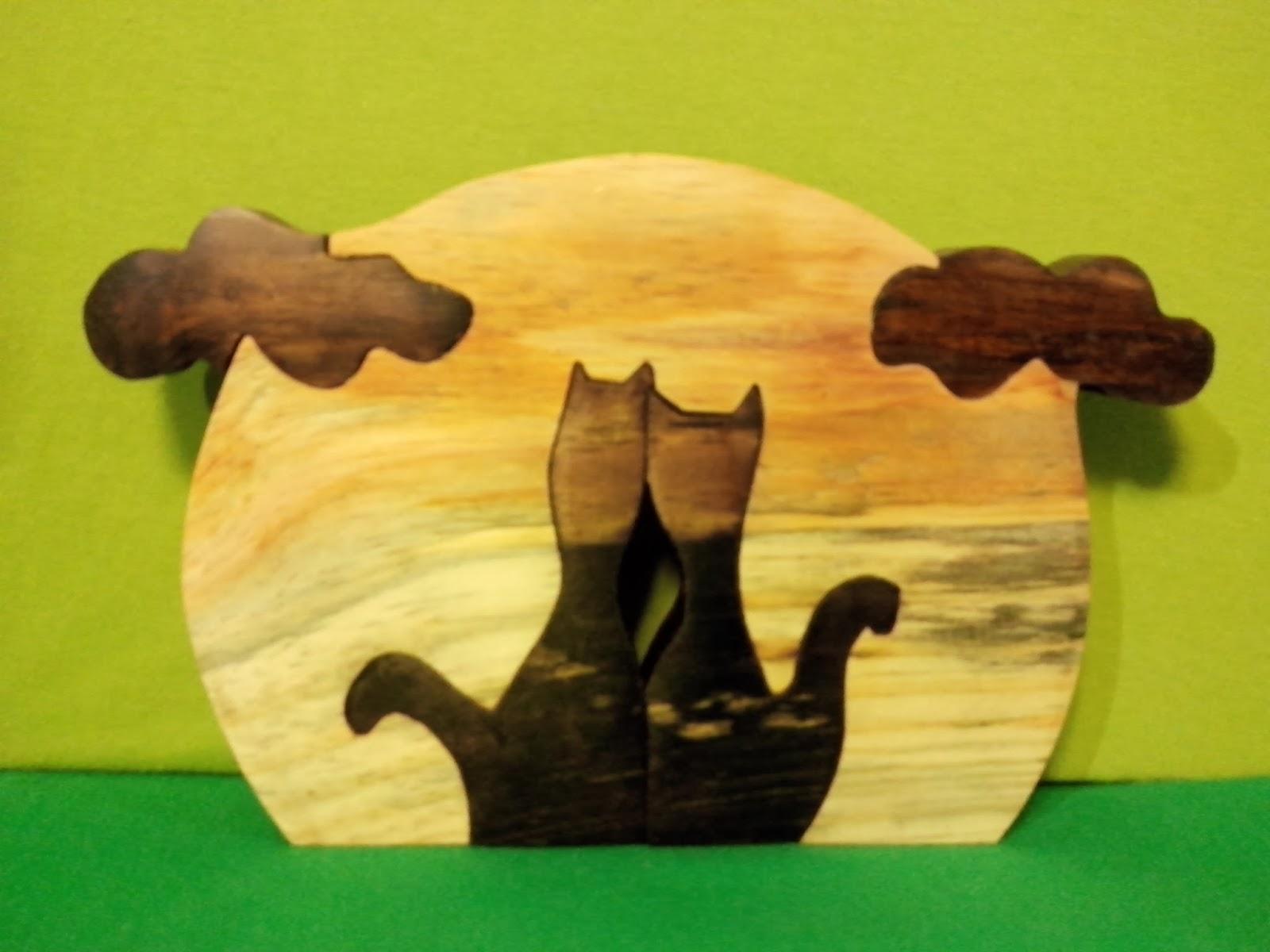gatos madeira artesanato distrito federal