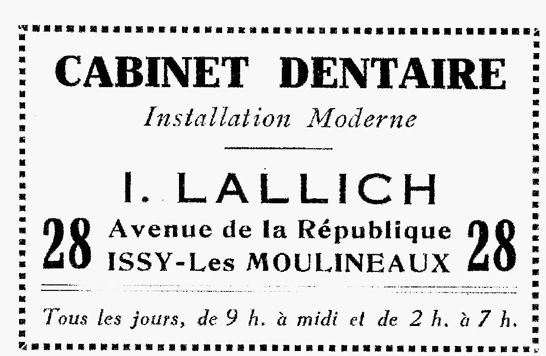 Historim r clames d 39 antan ann es 1950 - Cabinet dentaire issy les moulineaux ...