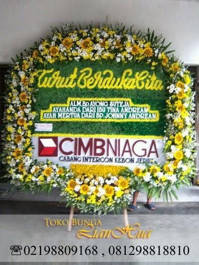 karangan bunga papan duka cita, bunga untuk orang meninggal, toko bunga,