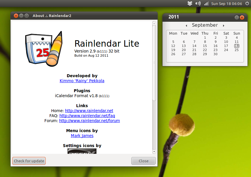 Railendar berjalan native di Ubuntu