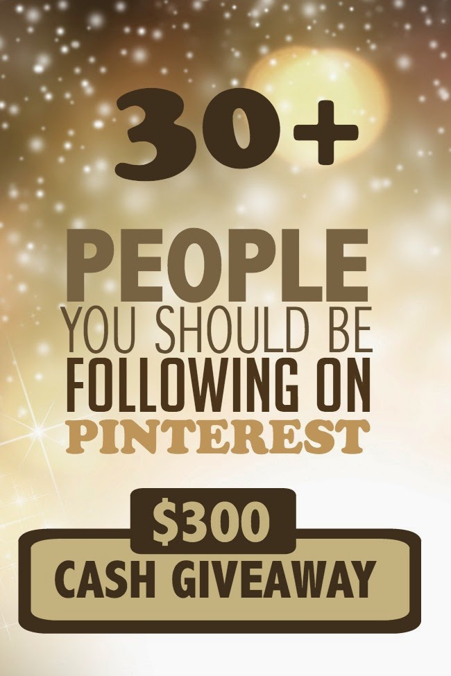 People to Follow on Pinterest $300 Cash Giveaway; ends November 12