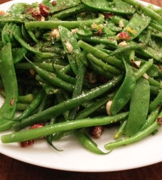 French Green Beans Snow Peas Hazelnuts Orange Recipe