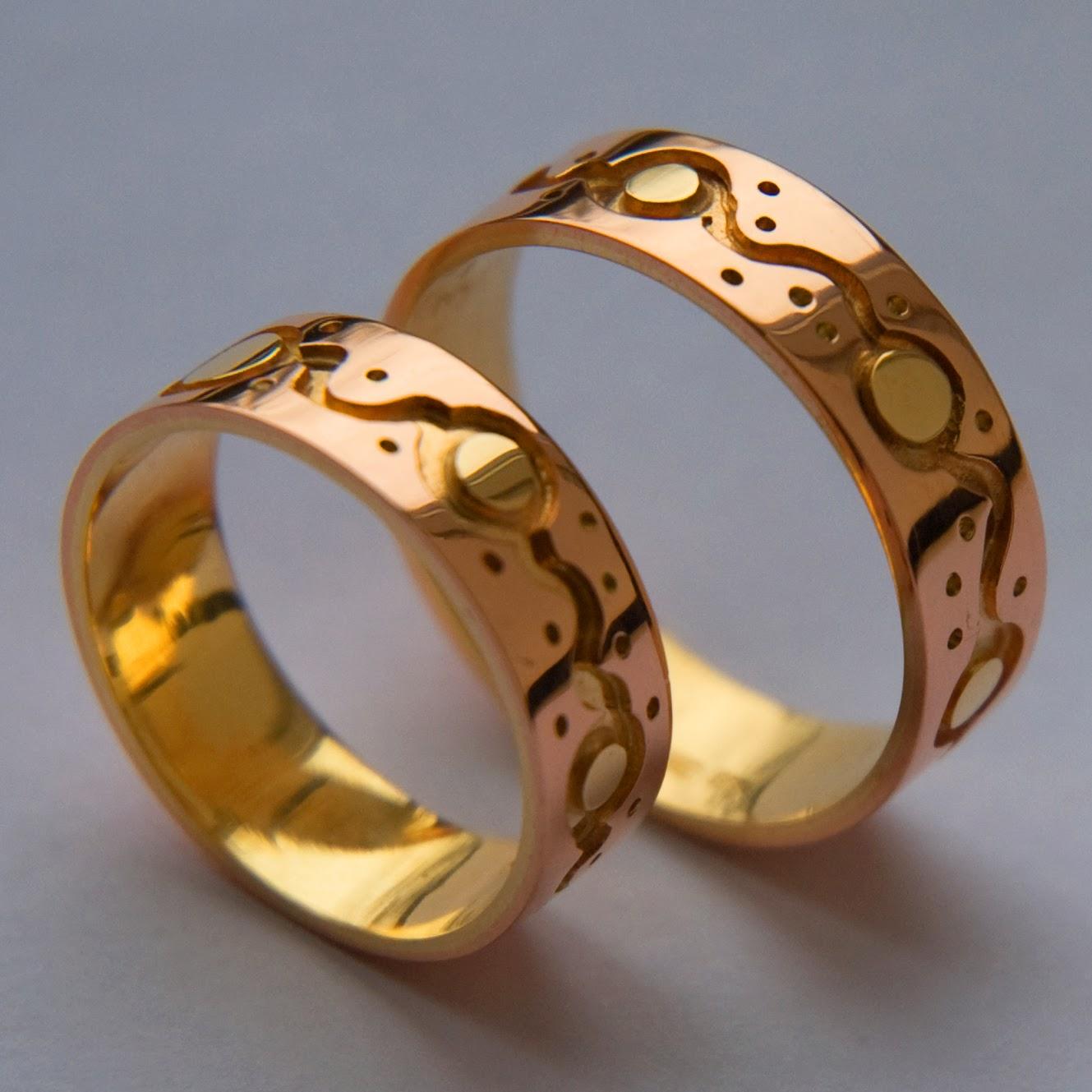 Ojibwe-style wedding rings Dancing Suns | Fisher Star Native ...