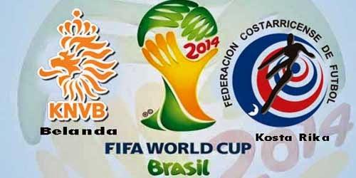Prediksi Skor (Line-Up) Belanda vs Kosta Rika 8 Besar Piala Dunia (Minggu, 6 Juli 2014)