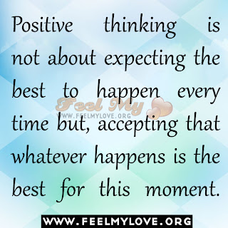 Positive thinking is not about expecting the best to happen