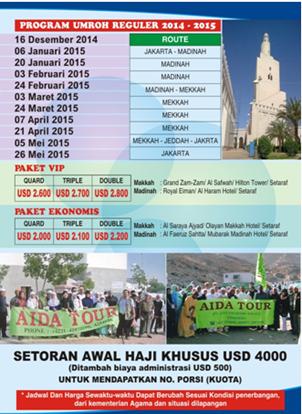 PAKET UMROH 2014 - 2015